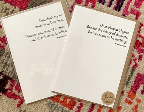 LetterPress Jess Cards