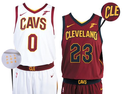9b9d859c98c7 The Score On The Cleveland Cavaliers Nike Uniforms